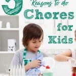 Young boy washing dishes - title: 5 faith-building reasons to do chores for kids