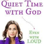 mom covering her ears because her kids are so loud she can't have a quiet time with God