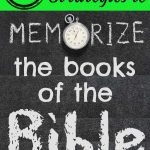 9 Simple Strategies to Memorize the Books of the Bible on a Blackboard