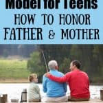 3 generations - grandfather, son, and grandson all fishing. Title - 5 ways to model for teens how to honor father & mother