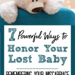 white teddy bear on teal couch - 7 powerful ways to honor your lost baby