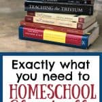 Stack of Christian Classical Books for Homeschoolers