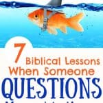 fish swimming with shark hat - title 7 biblical lessons when someone questions your motives