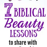 Makeup on white background. Title: 7 biblical beauty lessons to share with your daughters